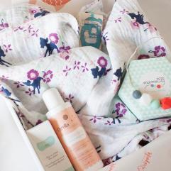 Mis cajas de regalo para bebés contienen productos naturales y testados dermatológicamente.