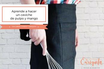 Receta de ceviche de pulpo y mango - Enriqueta Regala Bonito